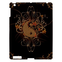 The Sign Ying And Yang With Floral Elements Apple Ipad 3/4 Hardshell Case by FantasyWorld7