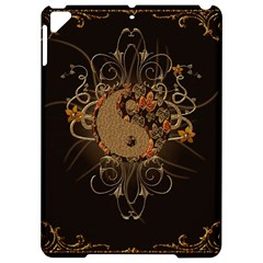 The Sign Ying And Yang With Floral Elements Apple Ipad Pro 9 7   Hardshell Case by FantasyWorld7