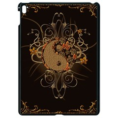 The Sign Ying And Yang With Floral Elements Apple Ipad Pro 9 7   Black Seamless Case by FantasyWorld7