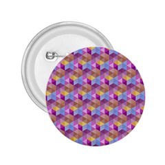 Hexagon Cube Bee Cell Pink Pattern 2 25  Buttons by Cveti