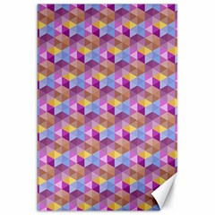 Hexagon Cube Bee Cell Pink Pattern Canvas 20  X 30   by Cveti