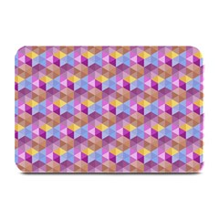 Hexagon Cube Bee Cell Pink Pattern Plate Mats by Cveti