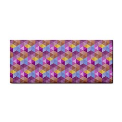 Hexagon Cube Bee Cell Pink Pattern Cosmetic Storage Cases by Cveti