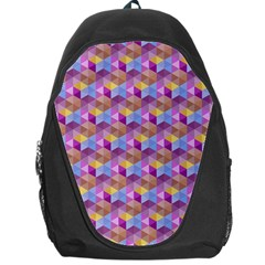 Hexagon Cube Bee Cell Pink Pattern Backpack Bag