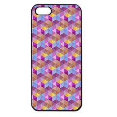 Hexagon Cube Bee Cell Pink Pattern Apple Iphone 5 Seamless Case (black) by Cveti