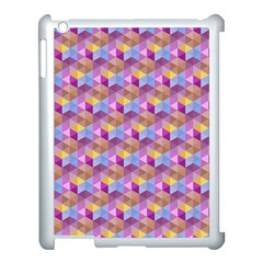 Hexagon Cube Bee Cell Pink Pattern Apple Ipad 3/4 Case (white) by Cveti