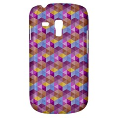 Hexagon Cube Bee Cell Pink Pattern Galaxy S3 Mini