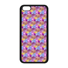Hexagon Cube Bee Cell Pink Pattern Apple Iphone 5c Seamless Case (black)