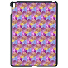 Hexagon Cube Bee Cell Pink Pattern Apple Ipad Pro 9 7   Black Seamless Case
