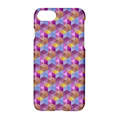 Hexagon Cube Bee Cell Pink Pattern Apple Iphone 8 Hardshell Case by Cveti