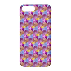 Hexagon Cube Bee Cell Pink Pattern Apple Iphone 8 Plus Hardshell Case by Cveti