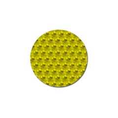 Hexagon Cube Bee Cell  Lemon Pattern Golf Ball Marker (4 Pack) by Cveti
