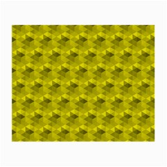 Hexagon Cube Bee Cell  Lemon Pattern Small Glasses Cloth (2 Side) by Cveti