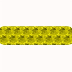 Hexagon Cube Bee Cell  Lemon Pattern Large Bar Mats by Cveti