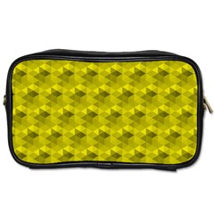 Hexagon Cube Bee Cell  Lemon Pattern Toiletries Bags 2 Side by Cveti