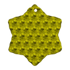 Hexagon Cube Bee Cell  Lemon Pattern Ornament (snowflake) by Cveti
