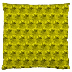 Hexagon Cube Bee Cell  Lemon Pattern Large Flano Cushion Case (two Sides) by Cveti