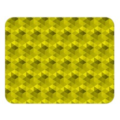 Hexagon Cube Bee Cell  Lemon Pattern Double Sided Flano Blanket (large)  by Cveti