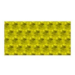 Hexagon Cube Bee Cell  Lemon Pattern Satin Wrap by Cveti