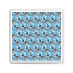 Hexagon Cube Bee Cell  Blue Pattern Memory Card Reader (square)  by Cveti