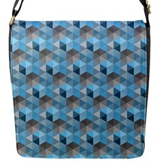 Hexagon Cube Bee Cell  Blue Pattern Flap Messenger Bag (s) by Cveti