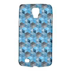 Hexagon Cube Bee Cell  Blue Pattern Galaxy S4 Active by Cveti
