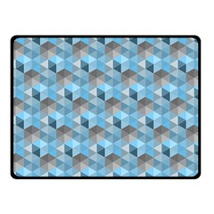Hexagon Cube Bee Cell  Blue Pattern Double Sided Fleece Blanket (small)  by Cveti