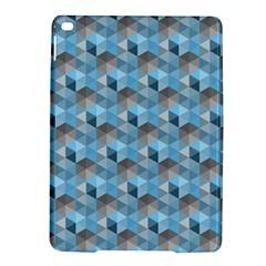 Hexagon Cube Bee Cell  Blue Pattern Ipad Air 2 Hardshell Cases by Cveti