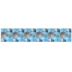 Hexagon Cube Bee Cell  Blue Pattern Large Flano Scarf