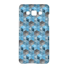 Hexagon Cube Bee Cell  Blue Pattern Samsung Galaxy A5 Hardshell Case  by Cveti