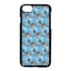 Hexagon Cube Bee Cell  Blue Pattern Apple Iphone 8 Seamless Case (black) by Cveti