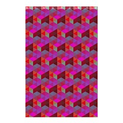 Hexagon Cube Bee Cell  Red Pattern Shower Curtain 48  X 72  (small)  by Cveti