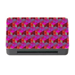 Hexagon Cube Bee Cell  Red Pattern Memory Card Reader With Cf by Cveti