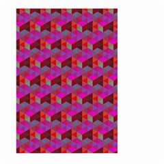 Hexagon Cube Bee Cell  Red Pattern Large Garden Flag (two Sides) by Cveti