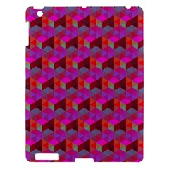 Hexagon Cube Bee Cell  Red Pattern Apple Ipad 3/4 Hardshell Case by Cveti