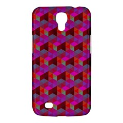 Hexagon Cube Bee Cell  Red Pattern Samsung Galaxy Mega 6 3  I9200 Hardshell Case by Cveti