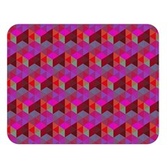 Hexagon Cube Bee Cell  Red Pattern Double Sided Flano Blanket (large)  by Cveti