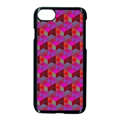 Hexagon Cube Bee Cell  Red Pattern Apple Iphone 8 Seamless Case (black) by Cveti