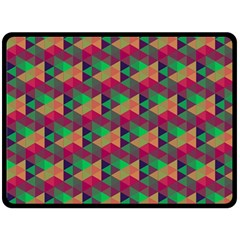 Hexagon Cube Bee Cell Pink Pattern Fleece Blanket (large)  by Cveti