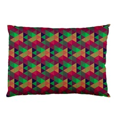 Hexagon Cube Bee Cell Pink Pattern Pillow Case (two Sides) by Cveti