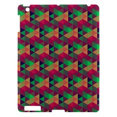 Hexagon Cube Bee Cell Pink Pattern Apple Ipad 3/4 Hardshell Case by Cveti