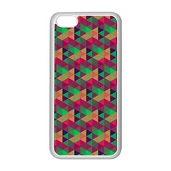 Hexagon Cube Bee Cell Pink Pattern Apple Iphone 5c Seamless Case (white) by Cveti