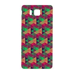 Hexagon Cube Bee Cell Pink Pattern Samsung Galaxy Alpha Hardshell Back Case by Cveti