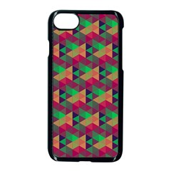 Hexagon Cube Bee Cell Pink Pattern Apple Iphone 7 Seamless Case (black) by Cveti
