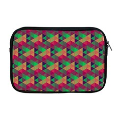 Hexagon Cube Bee Cell Pink Pattern Apple Macbook Pro 17  Zipper Case by Cveti