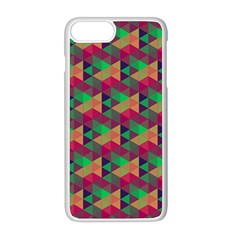 Hexagon Cube Bee Cell Pink Pattern Apple Iphone 8 Plus Seamless Case (white) by Cveti
