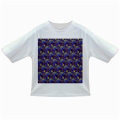 Hexagon Cube Bee Cell Purple Pattern Infant/toddler T Shirts by Cveti
