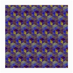 Hexagon Cube Bee Cell Purple Pattern Medium Glasses Cloth by Cveti