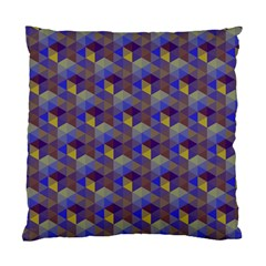 Hexagon Cube Bee Cell Purple Pattern Standard Cushion Case (two Sides) by Cveti