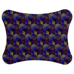Hexagon Cube Bee Cell Purple Pattern Jigsaw Puzzle Photo Stand (bow) by Cveti